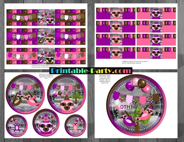 sloth-girl-themed-printable-birthday-party-supplies