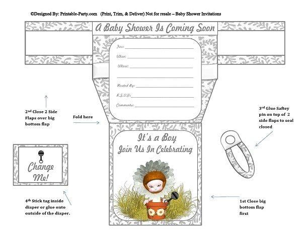 grey-white-sun-flower-diaper-boy-baby-shower-invitations