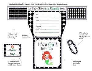 black-white-polka-dots-mermaid-diaper-girl-printable-baby-shower-invitation