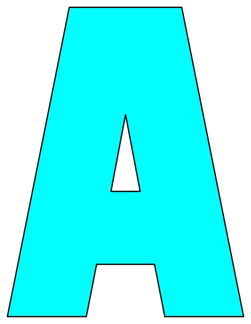 picture about Printable Letters Az identify 8X10.5 Inch Aqua Printable Letters A-Z, 0-9