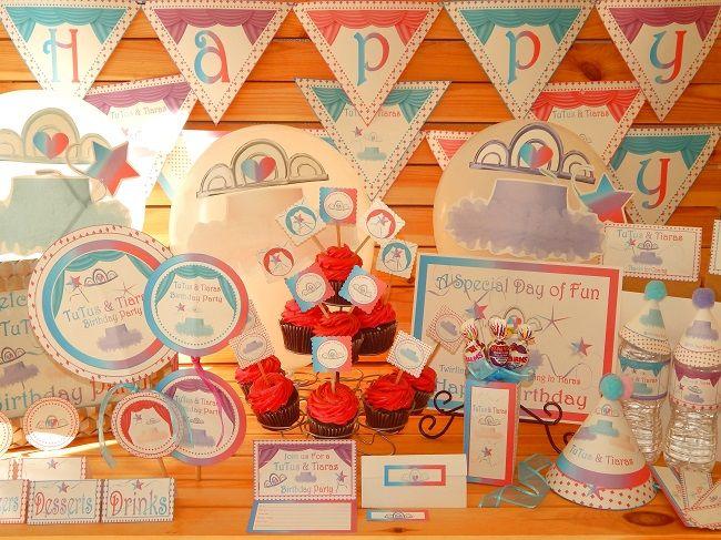 photo regarding Printable Tiaras known as tutus-and-tiaras-printable-birthday-social gathering-products