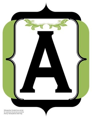 fancy-black-olive-green-printable-banners-letters-numbers