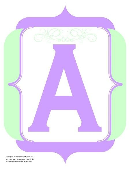 fancy-mint-green-lavender-printable-banners-letters-numbers