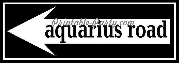Aquarius Road Left Arrow Signage