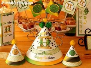 Gemini-zodiac-theme-party-printables-birthday-hats