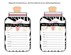 printable-light-pink-black-zebra-feet-girl-baby-bottle-shaped-baby-shower-invitations