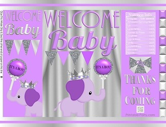 printable-potato-chip-bags-baby-shower-prince-BOY-elephant-purple-silver