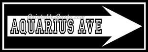 Aquarius Ave Right Arrow Signage #3