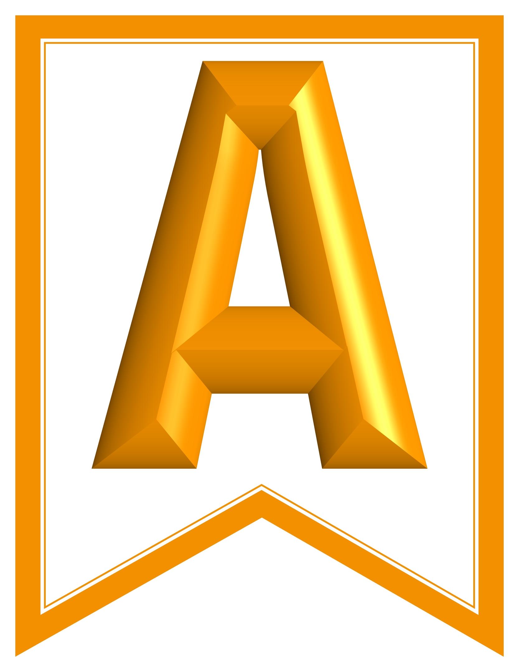 photograph relating to Printable Alphabet Banner identified as SWALLOWTAIL-PRINTABLE-ALPHABET-BANNER-LETTERS-orange-white