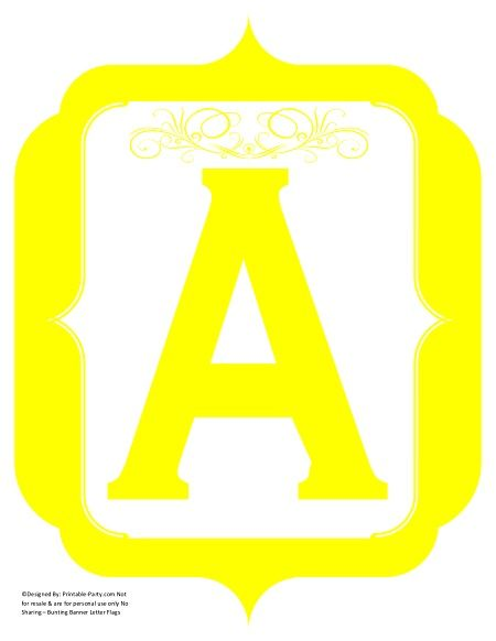 image relating to Printable Banners named extravagant-yellow-printable-banners-letters-quantities