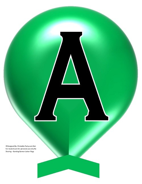 LARGE-GREEN-BALLOON-PRINTABLE-BANNER-LETTERS-A-Z-0-9