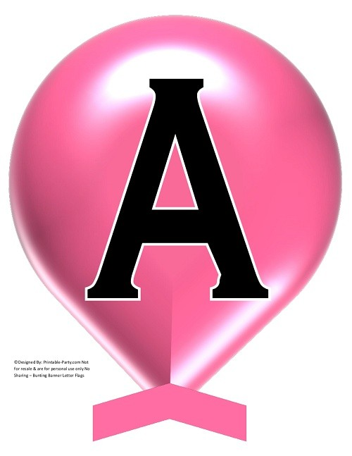 LARGE-ROSE-PINK-BALLOON-PRINTABLE-BANNER-LETTERS-A-Z-0-9