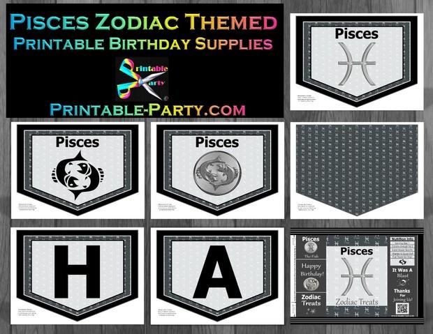 Pisces-Zodiac-theme-printable-birthday-decorations
