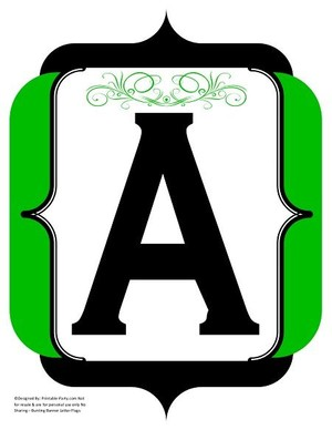 fancy-black-green-printable-banners-letters-numbers