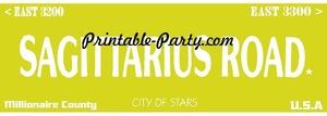 Sagittarius Zodiac Street Signage JPEG Image