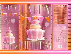 image relating to Chip Teacup Printable named printable-potato-chip-baggage-favors-purple-orange-cake-birthday-1