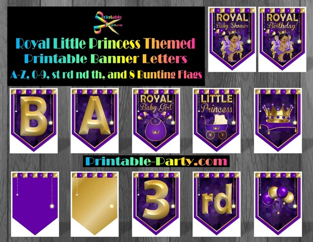 royal-little-princess-themed-printable-baby-shower-banner-alphabet-letters