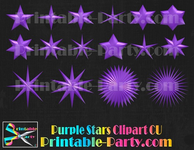 Purple Star Clipart Royalty Free