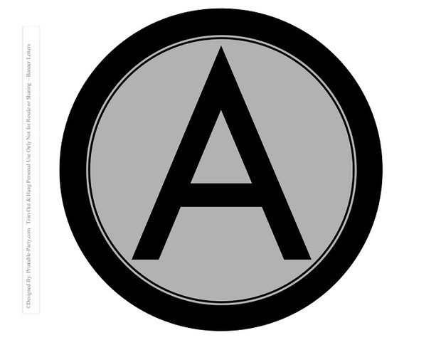 8-INCH-BLACK-GREY-CIRCLE-PRINTABLE-BANNER-LETTERS-A-Z-0-9