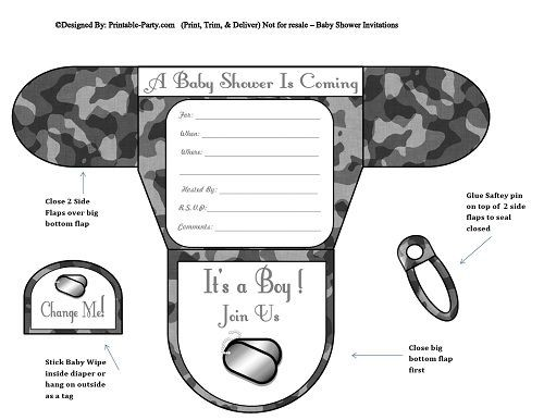 camouflage-dog-tag-grey-diaper-boy-baby-shower-invitation
