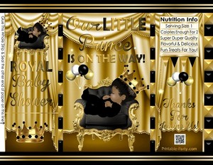 POTATO-chip-favor-royal-PRINCE-BABY-SHOWERgoldblack
