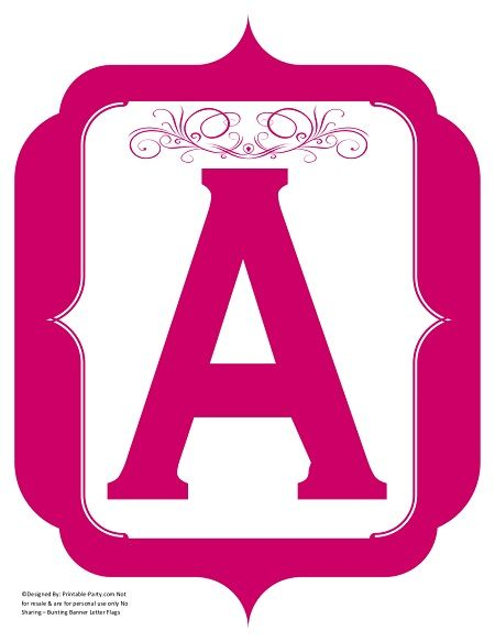 image about Printable Banner Letters known as extravagant-red-violet-printable-banners-letters-figures