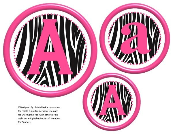 6-inch-hot-pink-black-zebra-circle-printable-banner-letters-numbers-a-z-0-9