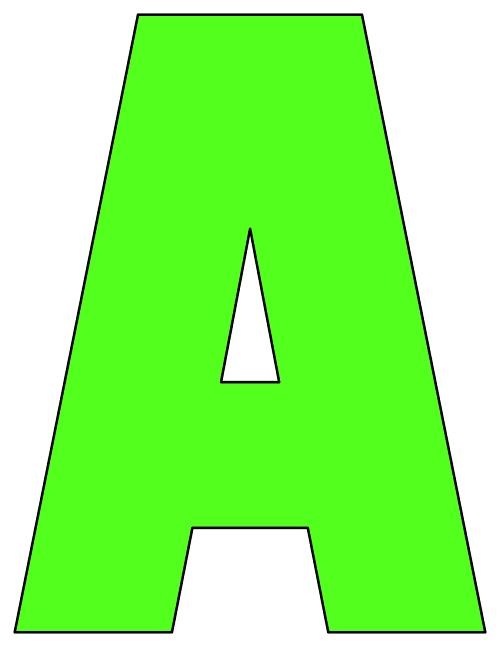 graphic relating to Printable Letters Az named 8X10.5 Inch Lime Inexperienced Printable Letters A-Z, 0-9