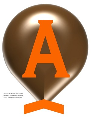 LARGE-BROWN-ORANGE-BALLOON-PRINTABLE-BANNER-LETTERS-A-Z-0-9