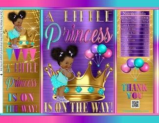printablechipfavorbagsroyalpurplegoldtealbabyshowerAfricanethnic