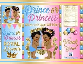 POTATO-chip-favor-bags-royal-gender-reveal-BABY-SHOWER-blue-pink