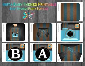 camera-baby-shower-printable-party-supply-blue-orange