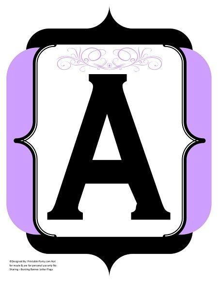 fancy-black-lavender-printable-banners-letters-numbers