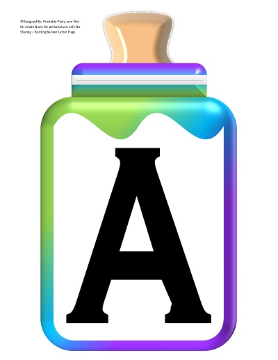 photo regarding Large Printable Alphabet Letters referred to as Cost-free-Huge-Environmentally friendly-BLUE-Red-Boy or girl-BOTTLE-BANNER-LETTER