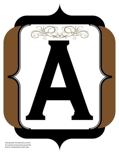 fancy-black-brown-printable-banners-letters-numbers