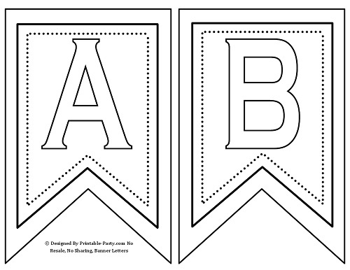image relating to Free Printable Letters for Banners named cost-free-5-inch-swallowtail-white-black-printable-banner-l