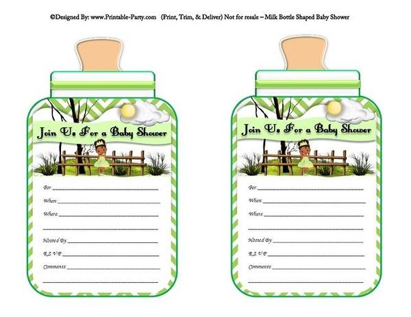 printable-green-chevron-frog-princess-milk-bottle-shaped-baby-shower-invitations