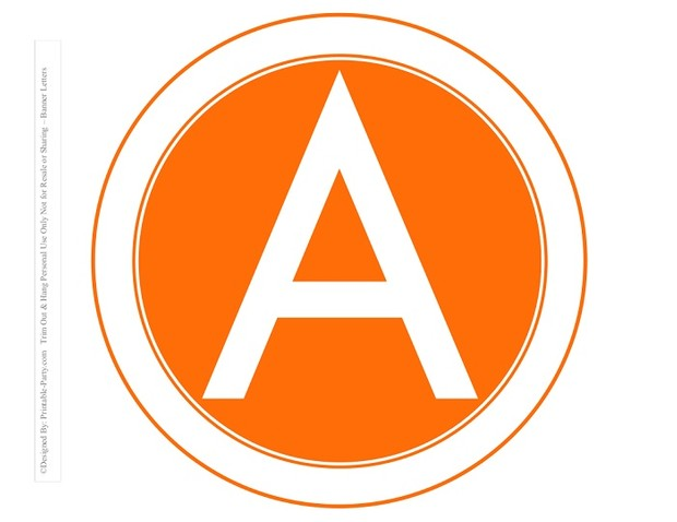 8-INCH-WHITE-ORANGE-CARROT-CIRCLE-PRINTABLE-BANNER-LETTERS-A-Z-0-9