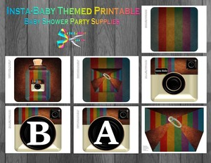 Camera-baby-shower-printable-party-supplies