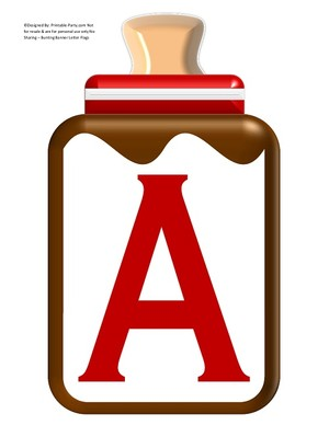 LARGE-BROWN-RED-BABY-BOTTLE-BANNER-LETTERS