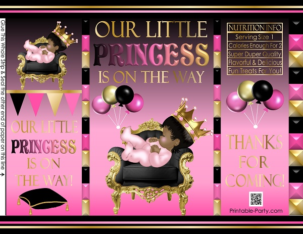 picture about Printable Chip Bags referred to as printable-potato-chip-luggage-royalprincesspinkBLACKGOLDbabyshower3
