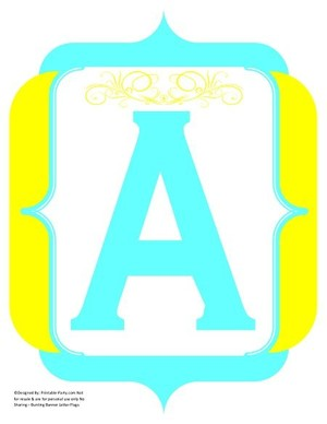 fancy-yellow-aqua-printable-banners-letters-numbers