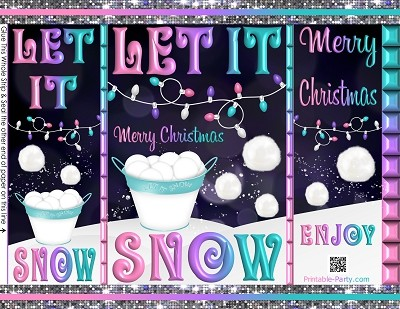 printable-chip-gift-bags-Christmas-winter-let-it-snow-pink-purple-teal