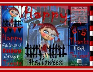 printable-treat-bags-halloween-haunted-house-girl-zombie