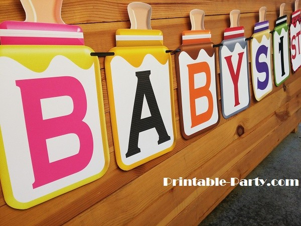 LARGE-GREY-RED-BABY-BOTTLE-BANNER-LETTERS