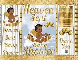 printable-potato-chip-favor-bags-goldwhite-heaven-sent-Angel-boy-babyshower