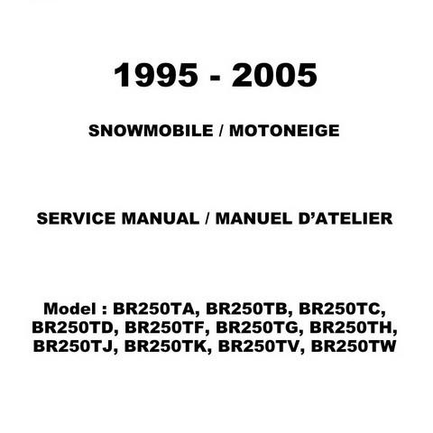 Yamaha Snowmobile Bravo / BR250 Repair Service Manual