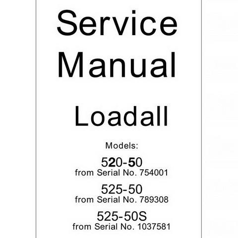 JCB 520, 525 Loadall Repair Service Manual