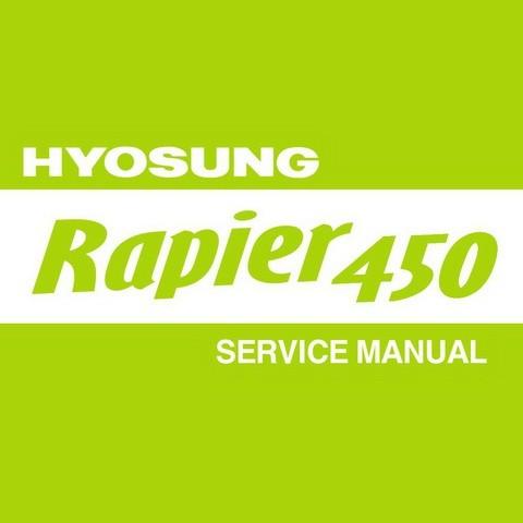 Hyosung TE450 / Rapier 450 Workshop Repair Service Manual