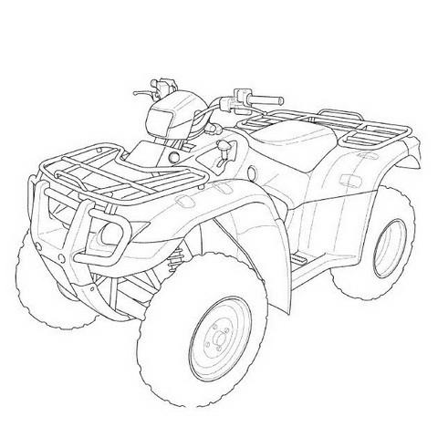 Honda TRX500FA/FGA Rubicon Repair Service Manual 2005-2008